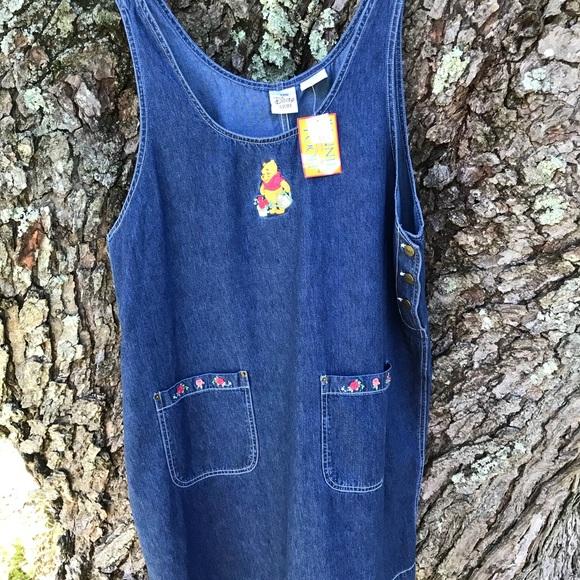 cc2f929debe16 Vintage 90s Disney Store Pooh Jumper Dress Denim